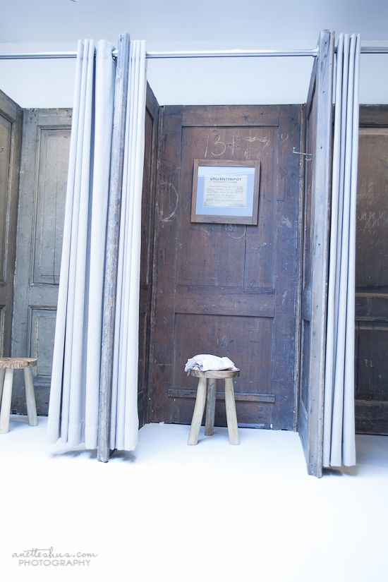 Fitting Room Designs For Retail: Dressing Rooms - OLD DOORS! Amsterdam-1589