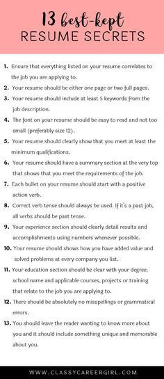 13 Tips for a Better Resume {INFOGRAPHIC} from Artisan Talent