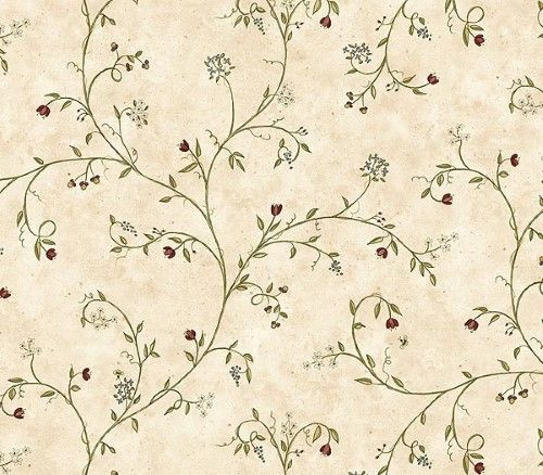 Chesapeake FAM66163 Wildflower Trail Wallpaper, Burgundy