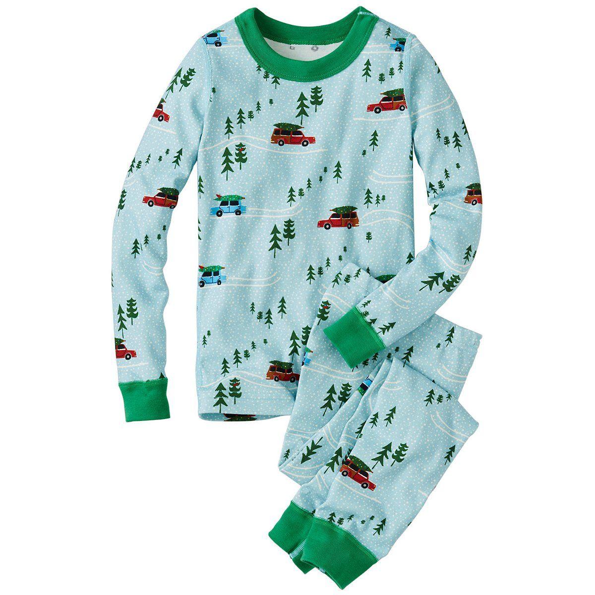 Kids Long John Pajamas In Organic Cotton by Hanna