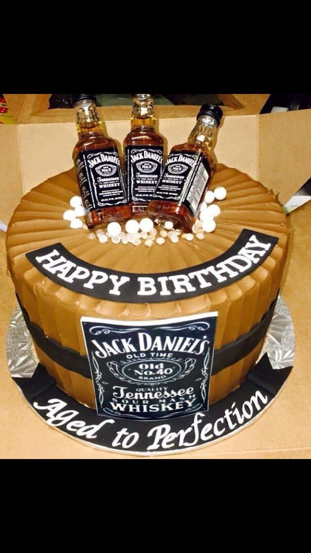 Aged To Perfection Jack Daniels Cake Cakea Birthday