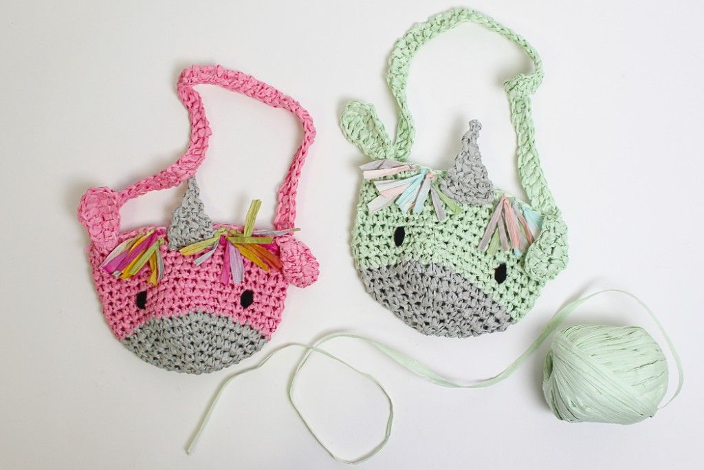 Unicorn Bag Crochet Pattern | Unicornios, Monederos y Lana