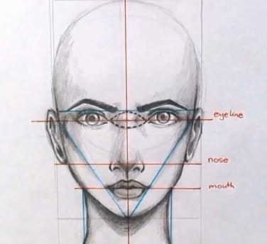 face drawing proportions | figura humana | Pinterest | Dibujo ...