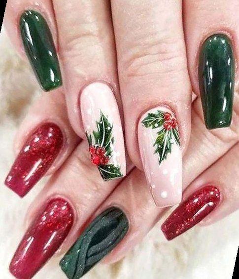 31+ Gorgeous Christmas Nail Art Ideas To Beautify