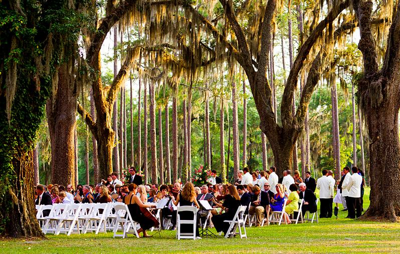 Outdoor Wedding Under Oaks At Alcyone Plantation Lake Park GA