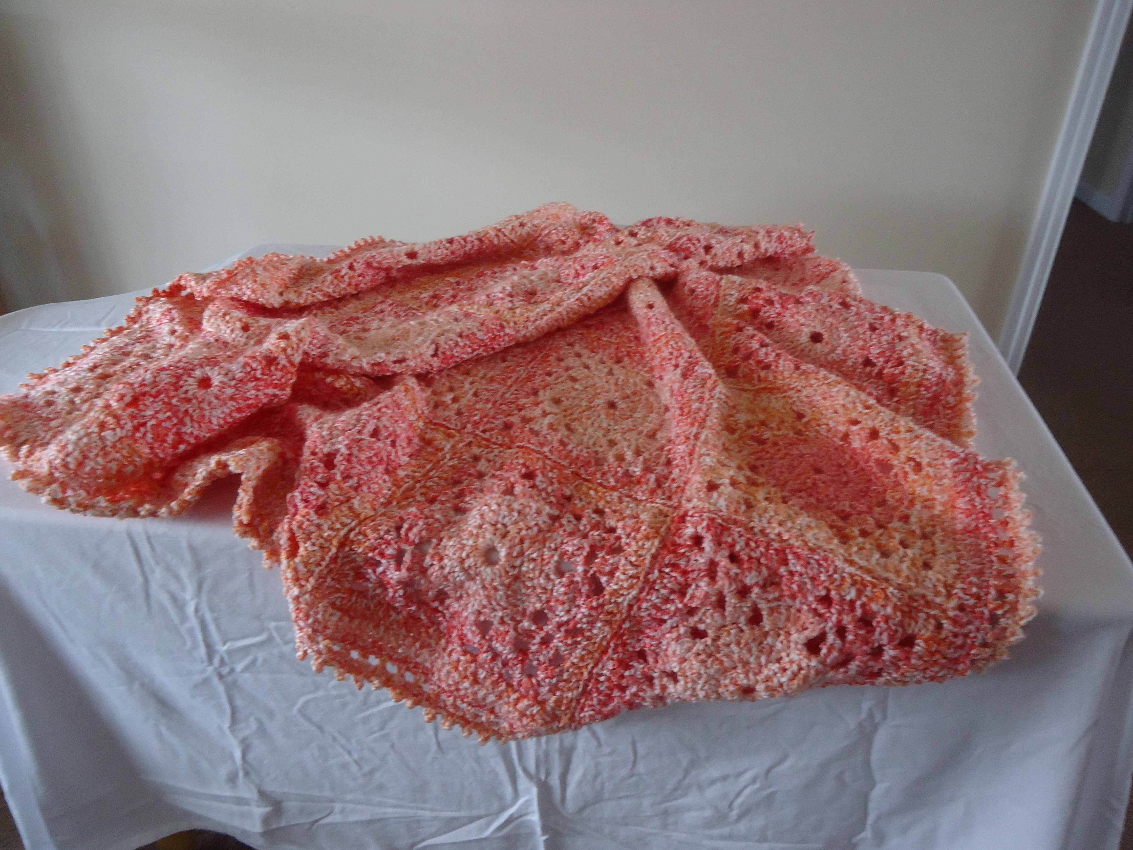 Crochet Afghan  Lion Brand Yarn  Color Calypso