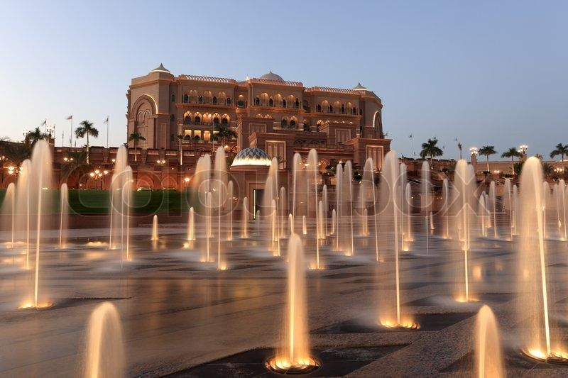 | Emirates Palace at night, Abu Dhabi, United Arab Emirates