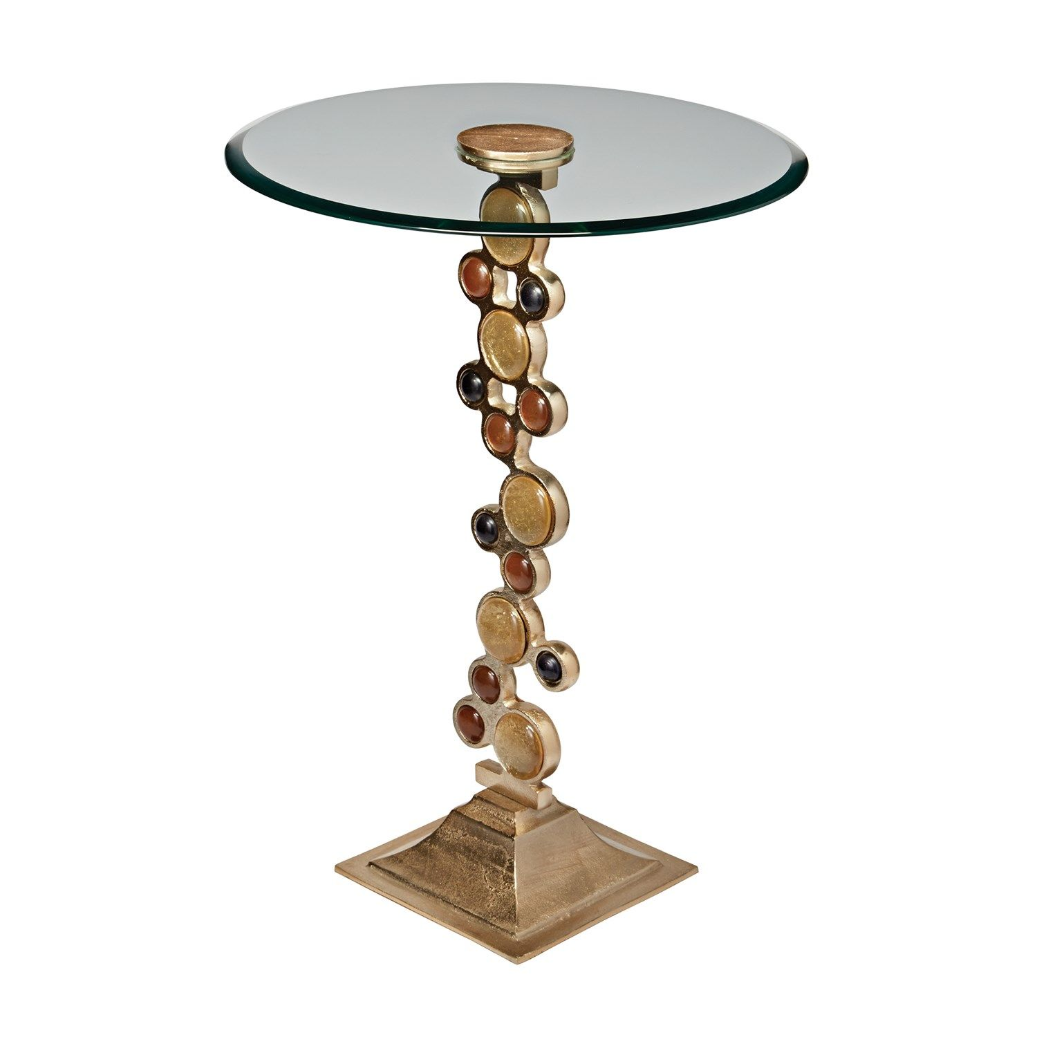 Sterling Industries 468-017 Ruby and Gold Side Table in Champagne