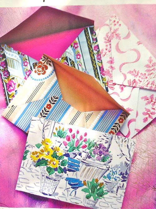 pretty cards  envelopes  diy envelope paper crafts