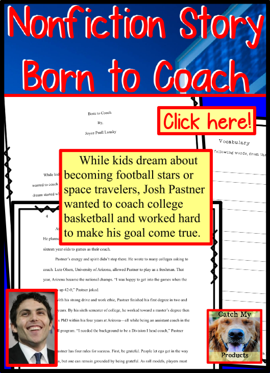 Nonfiction Passages With Questions Sports Theme