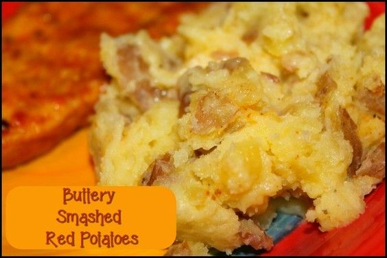 Buttery Smashed Red Potatoes  http://www.momspantrykitchen.com/-buttery-smashed-red-potatoes.html