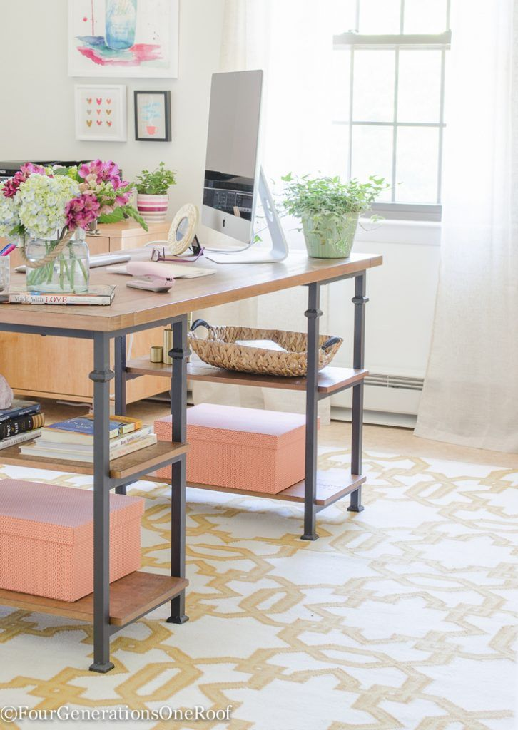 industrial modern office. Colorful Modern Farmhouse Office Decorating Ideas | How To Create A Rustic Industrial 0