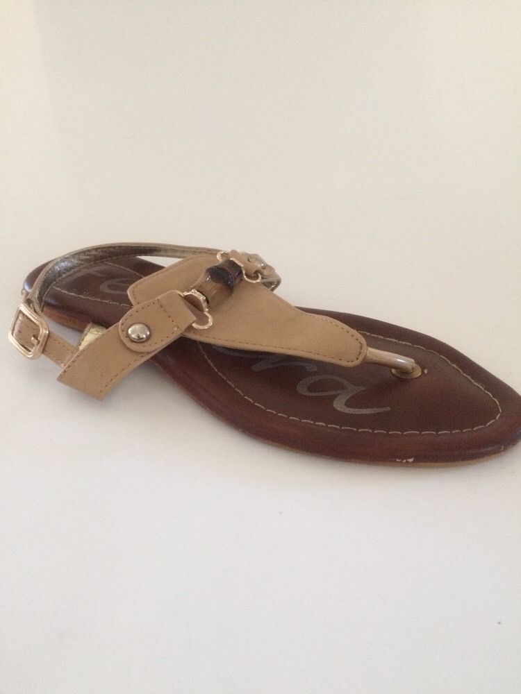 ed8c7556071e1 Perfect with a sundress! Ferrera Ladies Thong Sandal Tan Gold ...