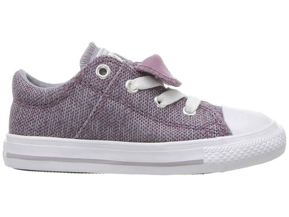 be5cd20ec7d37d Converse Kids Chuck Taylor(r) All Star(r) Maddie - Ox (Infant Toddler)  Girl s Shoes Violet Dust Provence Purple White