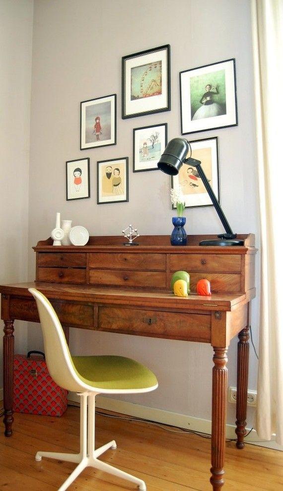 Astounding Antique Secretary Desk decorating ideas for Home Office
