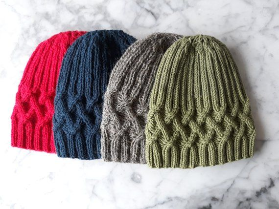2a885135bf7 Hat knitting pattern  instant download PDF. Beanie hat pattern. Cable knit  hat pattern. Aran hat pattern. Knit your own hat. Renmore beanie.