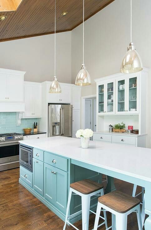 Beautiful Kitchen Tiffany Blue Kitchen Light Blue