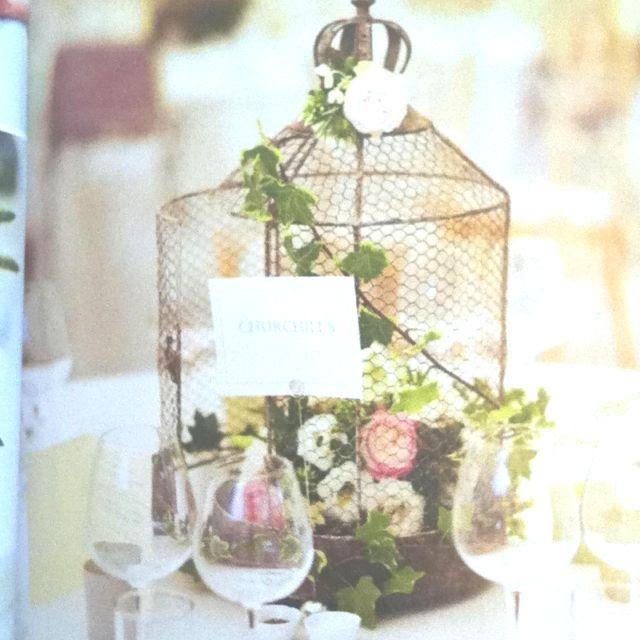birdcage or lantern centerpieces