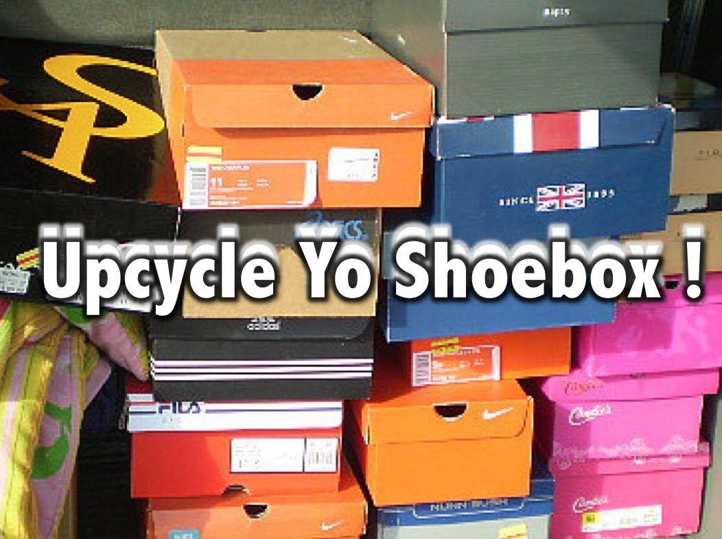 Upcycle Your Shoebox Shoe Box Crafts Diy Makeup Storage Shoe