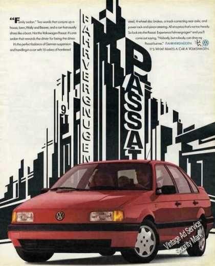 Vintage Car Advertisements Of The 1990s Page 7 Vw Passat Volkswagen Volkswagen Passat
