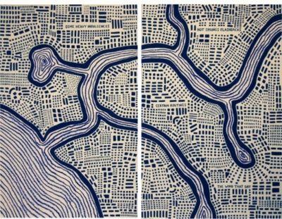'Some Heavy Influences' by New York artist Dahlia Elsayed (b.1969). via Urban Omnibus