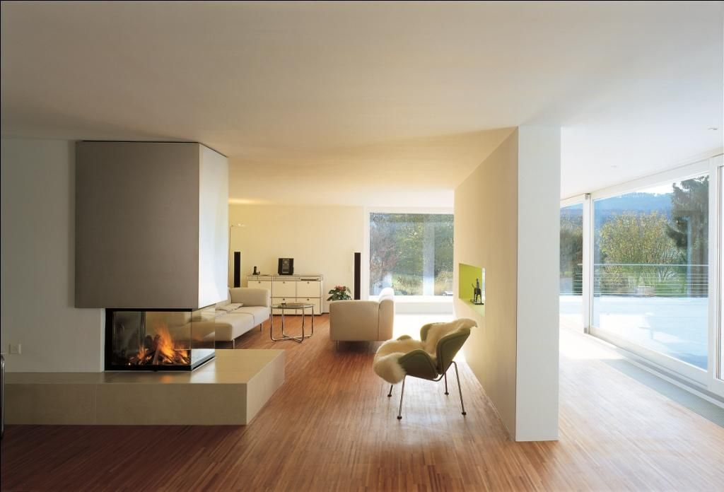 chemin e avec foyer 3 faces ruegg. Black Bedroom Furniture Sets. Home Design Ideas