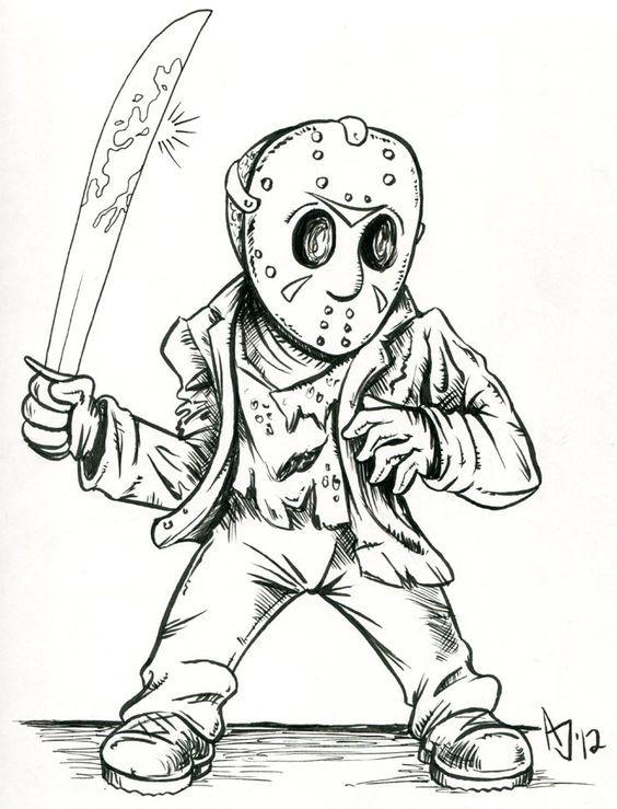 Jason Voorhees Horror Drawing Scary Drawings Badass Drawings