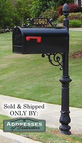 aluminum mailbox post. The Hampton Aluminum Mailbox And Post System, Black Addresses Of Distinction,http:/