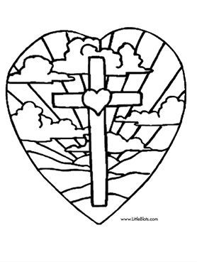 Free Free Printable Easter Coloring Pages Religious, Download Free ... | 369x278