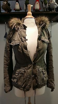 HOLLISTER Juniors Fur Hoodie Winter Jacket Military Size XS https://t.co/vEOdaTET1C https://t.co/Ax0SBMa0yV