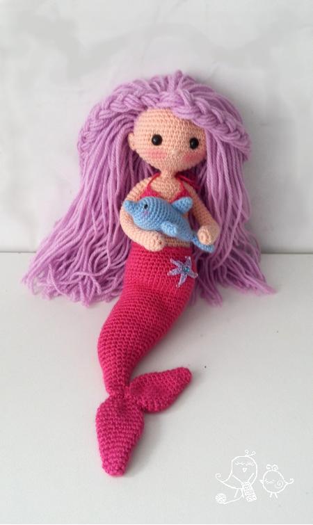 Patrn Sirena Amigurumi Y Su Delfn Mermaid And Dolphin Crochet Doll