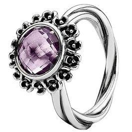 pandora anillo amatista