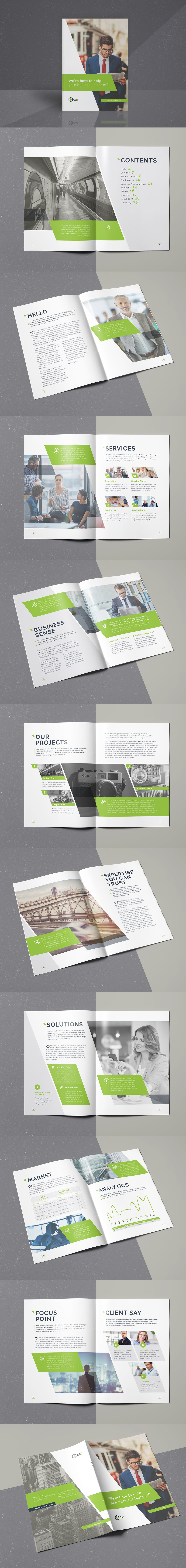 Business Brochure 20 Pages A4 Template InDesign INDD | couvertures ...