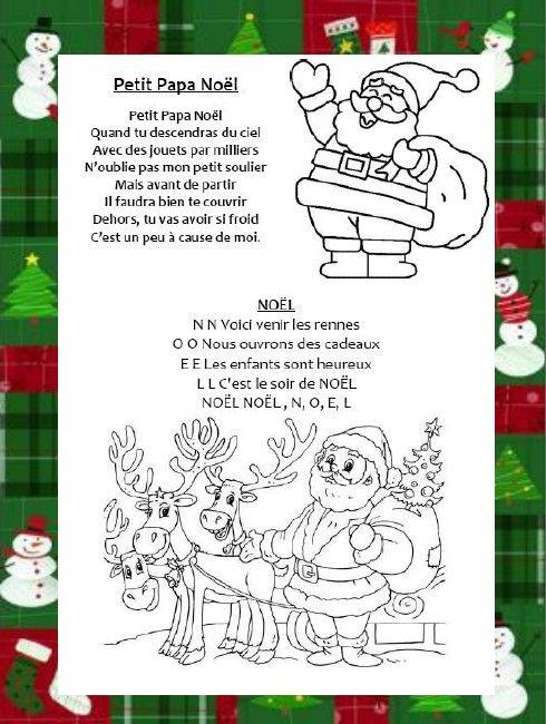 Pour Noel Ecole Noel Chants De Noel Et Chanson De Noel