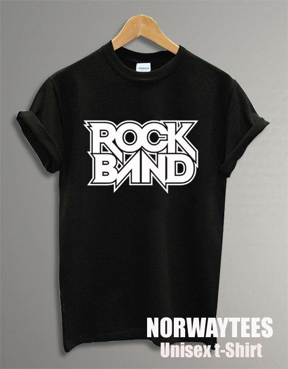 Rock Band Shirt  Printed on Black and White tShirt by Norwaytees