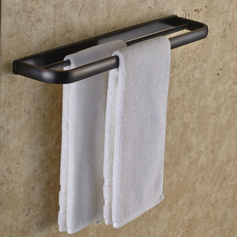 Amazoncom Rozin Oil Rubbed Bronze Double Towel Bars Wall Mounted