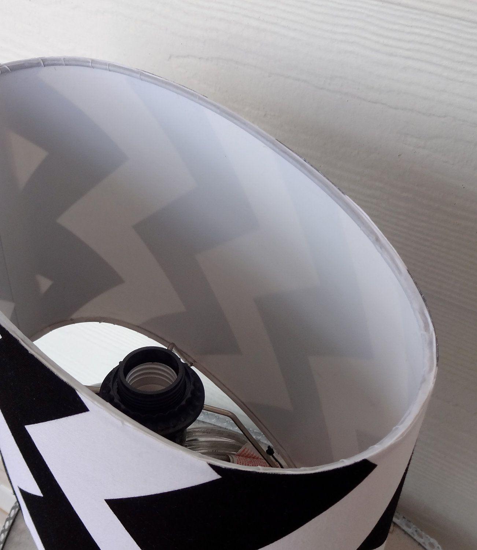 Black Chevron Stripe Table Lamp Desk Lamp by designsbyjosette, $36.00