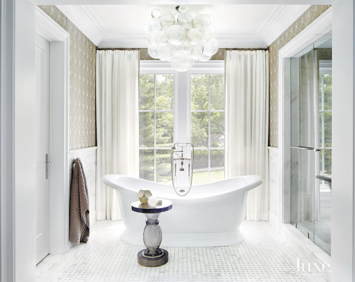 Traditional White Rear Elevation Terrace | LuxeSource | Luxe ...