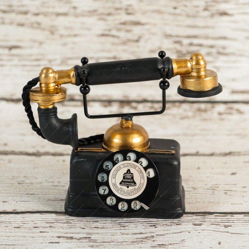 Rent Vintage Telephone Black And Gold Someday Vintage