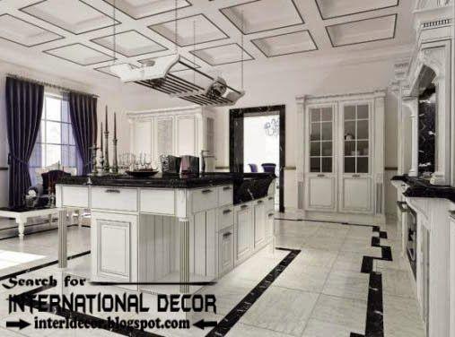 Modern Kitchen Ceiling Designs Ideas Lights Coffered For