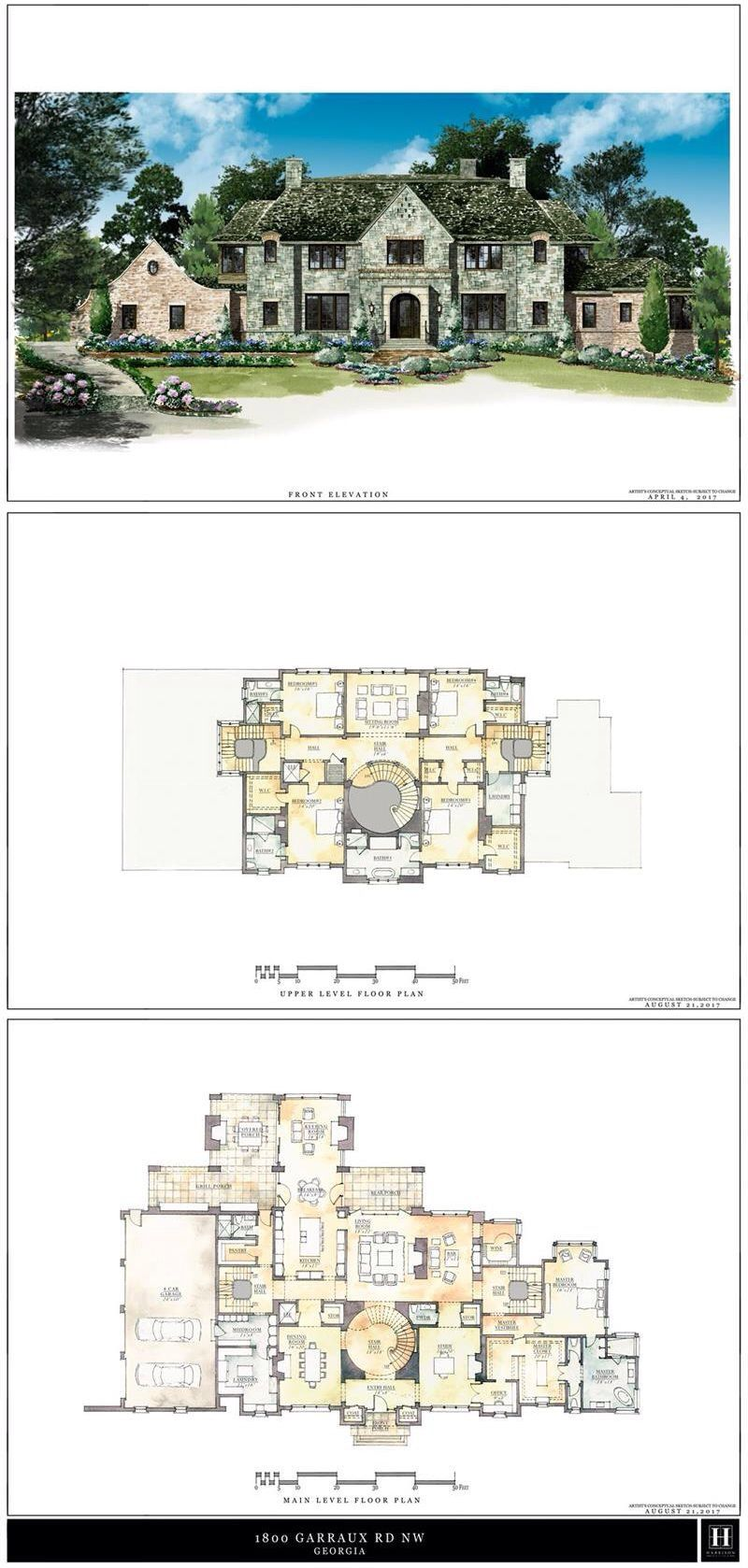 1800 Garraux Road Nw Atlanta Dorsey Alston Luxury House Plans Mansion Floor Plan House Plans