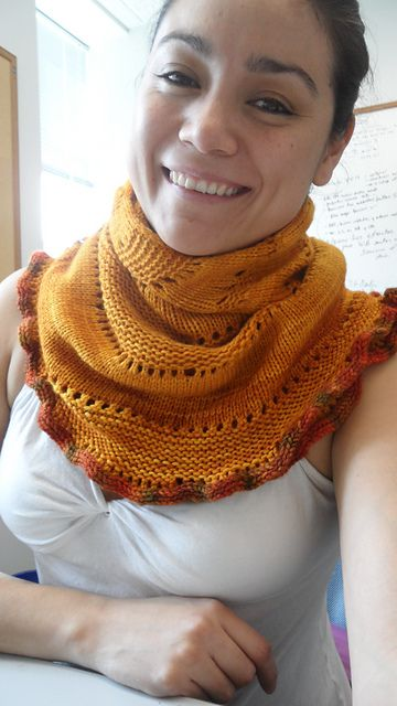 Glacier Sweep by Stephen West | malabrigo Rios in Sunset and Volcan