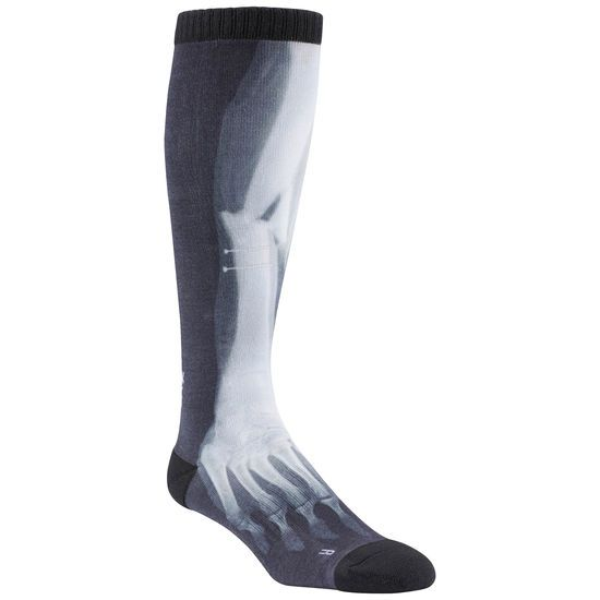 Reebok CrossFit Mens Printed Knee High Sock - schwarz