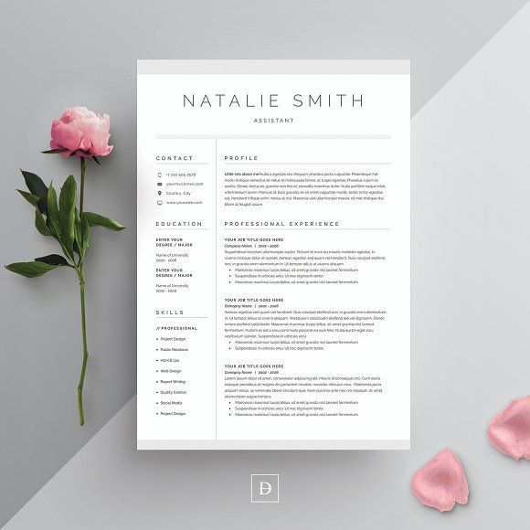 Word Resume \ Cover Letter Template by DemeDev on @creativemarket - where to print resume