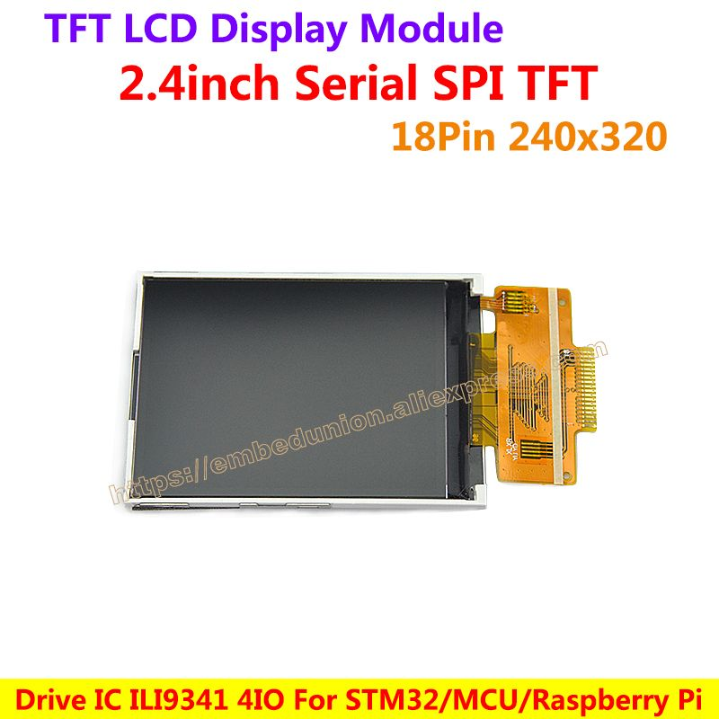 2 4inch SPI TFT LCD screen With touch 18PIN 240*320 Color