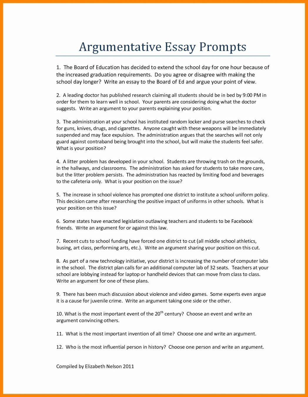 persuasive essay examples for high school students exam