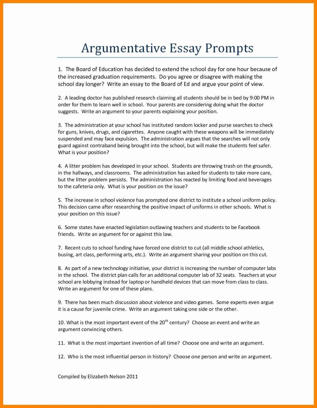 54 Persuasive Essay Examples For High School Students Exam