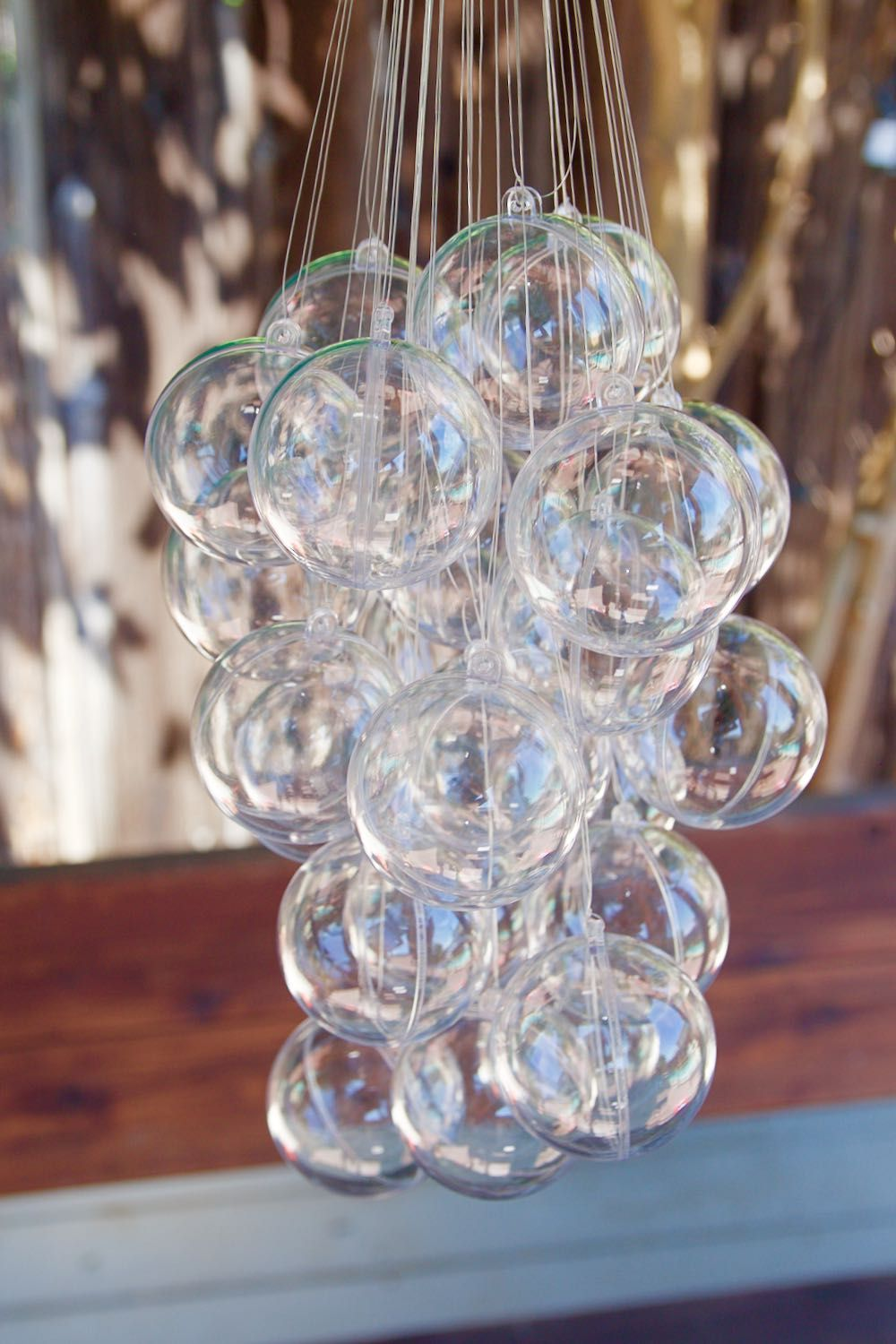 Easy and inexpensive bubble chandelier made from