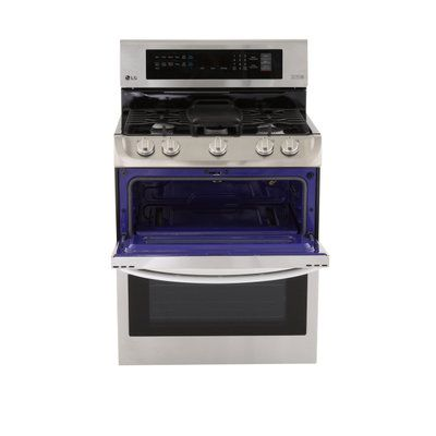 Gas Double Oven Range With Probake Convection In Stainless Steel Ldg4315st At The Home Depot Mobile