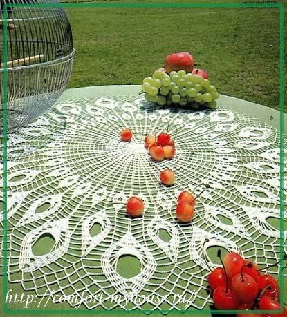Delicadezas en crochet Gabriela: Patrón de diseño : Servilleta \